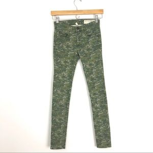 rag & bone Camouflage Camo Print Skinny Jeans A3